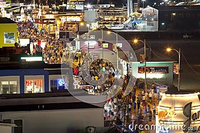 Busy Boardwalk Editorial Photo