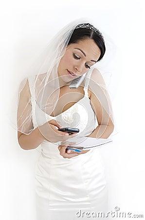 Busy bride