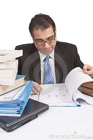 Busy Businessman working