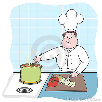 Busy chef