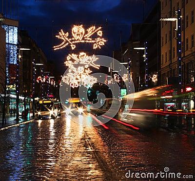 Busy Christmas street