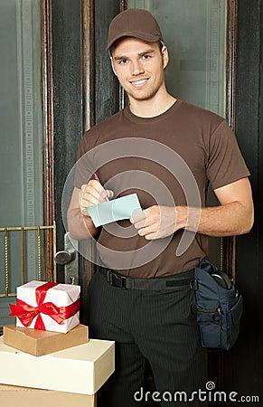 Busy deliveryman
