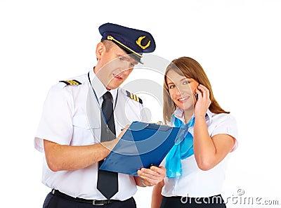Busy flight crew