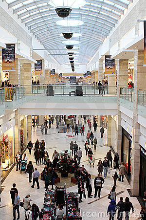 Busy mall Editorial Stock Photo