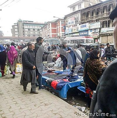 Free Busy Market In Srinagar Kashmir India Royalty Free Stock Photography - 87370017