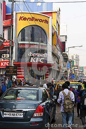 Busy Mumbai street scene Editorial Photography