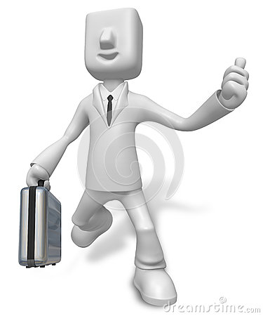 A busy person Carrying a Briefcase