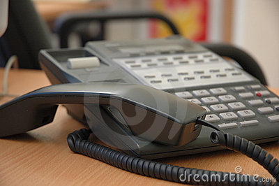 Busy phone Stock Photo