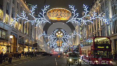 London Christmas decoration 2012 Editorial Photo