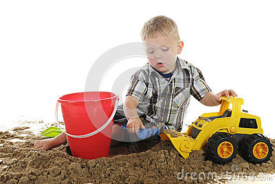 Busy with Sand and Toys
