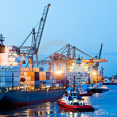 Free Busy Seaport Stock Photography - 11366452