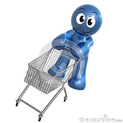 Busy shopper icon symbol