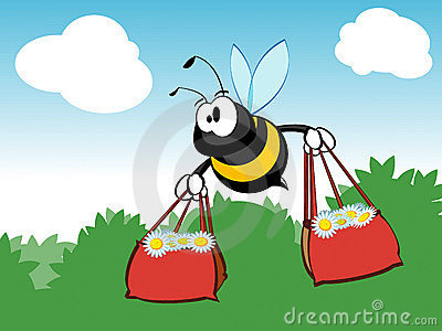 Busy shopping bee