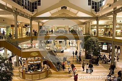 Busy shopping mall Editorial Stock Image