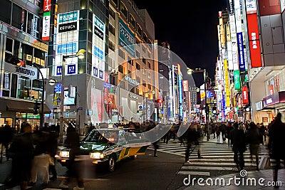 Busy streets of Shinjuku, Tokyo Editorial Photography
