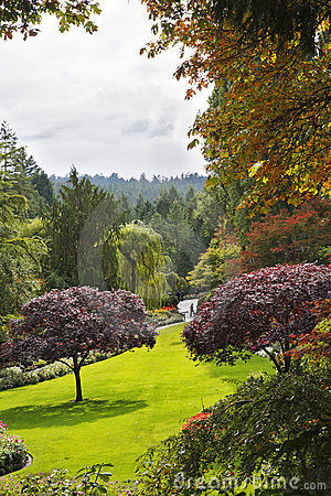 Butchard-garden on island Vancouver in Canada
