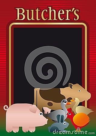 Butcher, background, menu