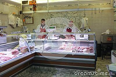 Butcher s shop Editorial Photo