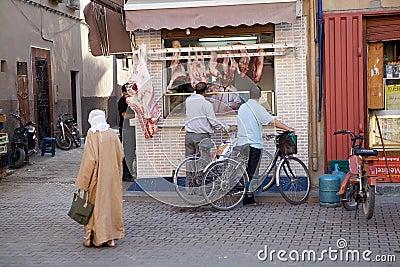 Butcher shop in Taroudant Editorial Photography