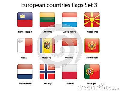 ButEuropean countries flags set 3
