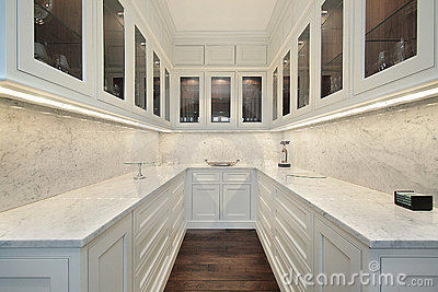 Butler s pantry in luxury home