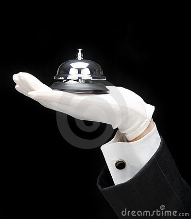 Free Butler With Call Bell Stock Image - 6598681