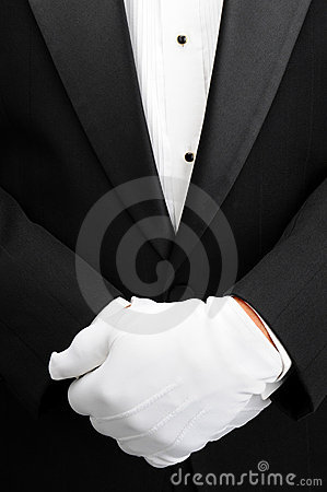 Free Butler With Hands In Front Of Body Stock Image - 21674071