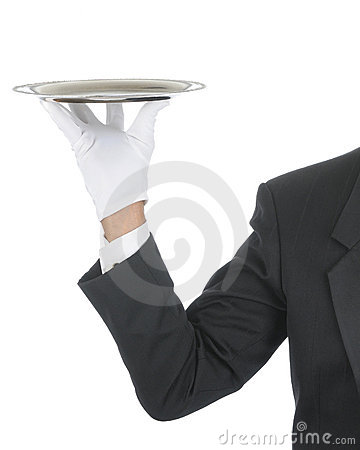 Free Butler With Tray Stock Photos - 14469643