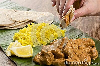 Butter Chicken & Lemon Rice