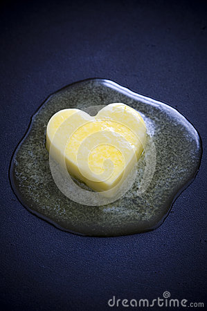 Free Butter Heart Melting Stock Photography - 25451342