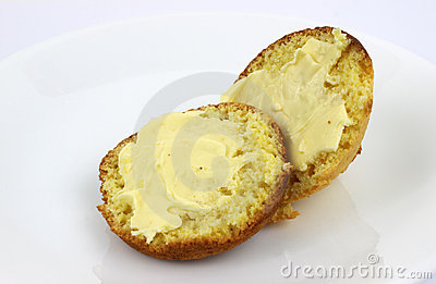 Buttered corn muffins