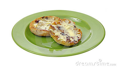 Buttered Raisin English Muffin