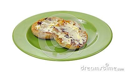 Buttered Raisin English Muffin