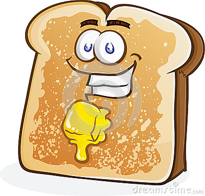 Buttered Toast Character