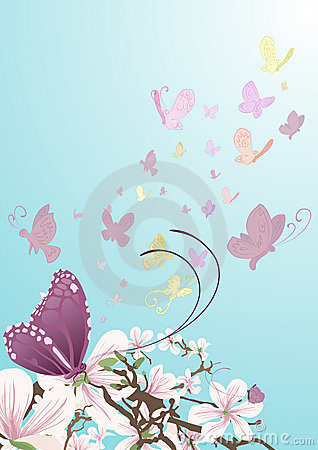 Free Butterflies And Beautiful Flowers Stock Images - 1972264