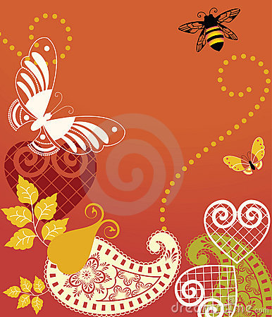 Butterflies and bee