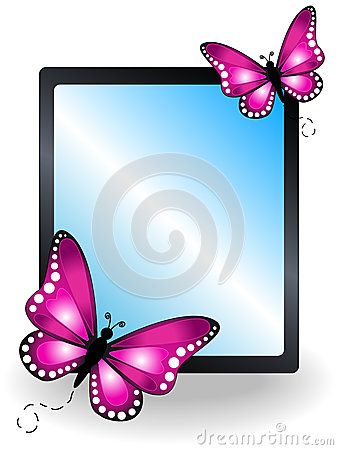 Pink butterfly message board