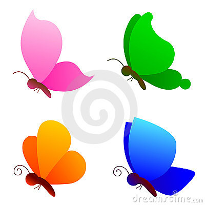 Free Butterflies / Butterfly Logo Vector Royalty Free Stock Images - 14570249