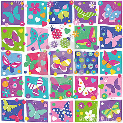 Free Butterflies Collection Pattern Stock Images - 42072584