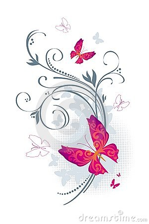 Butterflies and flora