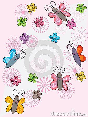 Butterflies Flower Flowers Flying_eps