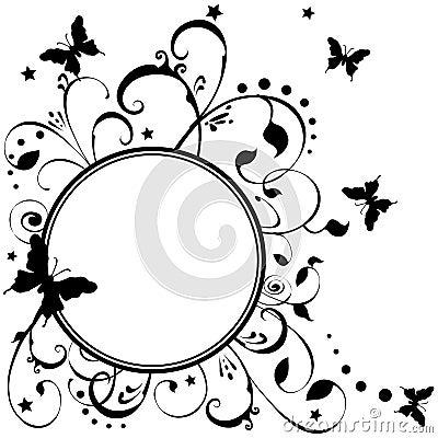 Free Butterflies Flowers Stars Art Stock Images - 3168394
