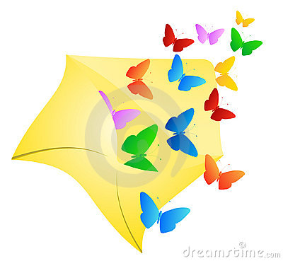Free Butterflies In Envelope Royalty Free Stock Images - 5285789