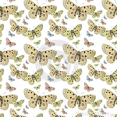 Free Butterflies Seamless Repeat Pattern Background Royalty Free Stock Photo - 16287495