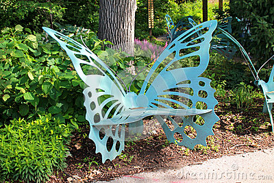 Butterfly Bench Stock Photo Image 42085530