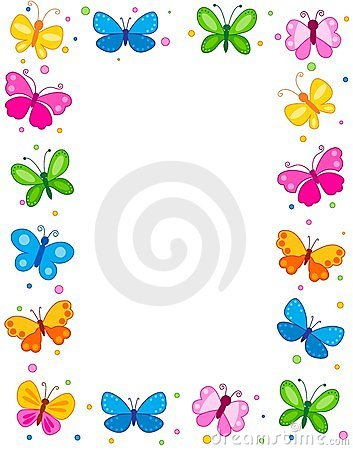 Free Butterfly Border Royalty Free Stock Photos - 24222858