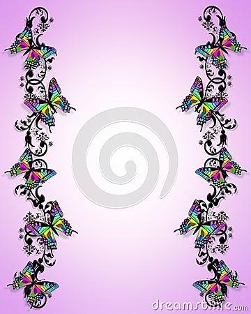 Butterfly Border 3D