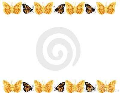 Butterfly Border Royalty Free Stock Photography - Image: 7047317