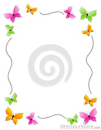 Butterfly border / frame