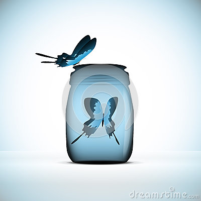 Butterfly in bottle